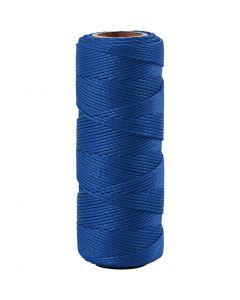 Bambuskordel, Stärke: 1 mm, Blau, 65 m/ 1 Rolle