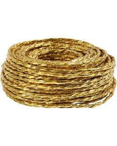 Papierkordel, Stärke: 3,5-4 mm, Gold, 25 m/ 1 Rolle