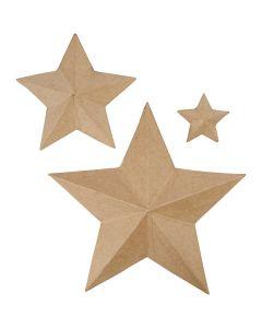 Sterne, H: 11+19,5+31,5 cm, 3 Stck./ 1 Pck.