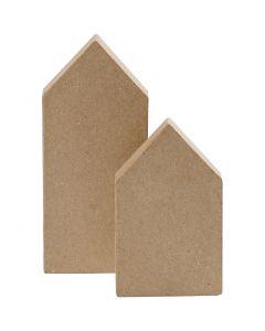 Häuser, H: 12,5+15 cm, 2 Stck./ 1 Pck.