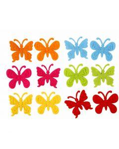 Filz Schmetterlinge, Größe 3 cm, Stärke: 1,5 mm, 160 Stck./ 1 Pck.