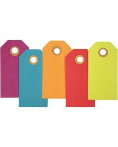 Geschenkanhänger, Größe 4x8 cm, 250 g, Sortierte Farben, 20 Stck./ 1 Pck.