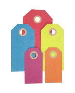 Geschenkanhänger, Größe 3x6+4x8+5x10 cm, 220 g, Sortierte Farben, 500 Stck./ 1 Pck.