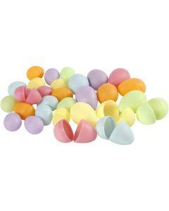 Eier, H: 4,5+6 cm, D: 3+4  cm, Pastellfarben, 720 Stck./ 1 Pck.
