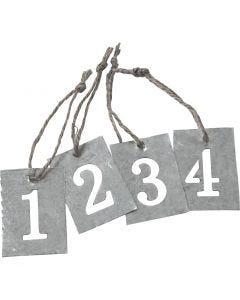 Zinkanhänger, 4 Stck./ 1 Set