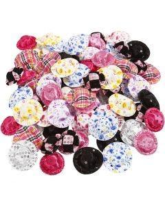 Mini-Hüte, D: 4 cm, Sortierte Farben, 100 Stck./ 1 Pck.
