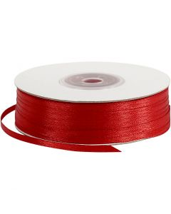 Satinband, B: 3 mm, Rot, 100 m/ 1 Rolle