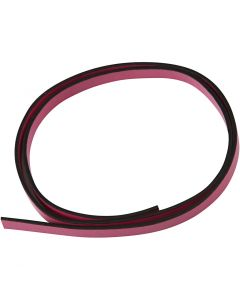 Lederband Imitat, B: 10 mm, Stärke: 3 mm, Pink, 1 m/ 1 Pck.