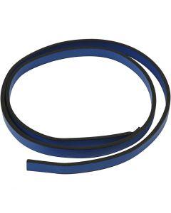 Lederband Imitat, B: 10 mm, Stärke: 3 mm, Blau, 1 m/ 1 Pck.