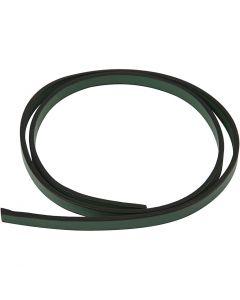 Lederband Imitat, B: 10 mm, Stärke: 3 mm, Grün, 1 m/ 1 Pck.