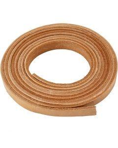 Lederband , B: 10 mm, Stärke: 3 mm, Natur, 2 m/ 1 Pck.