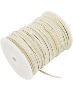 Band aus Wildlederimitat, Stärke: 3 mm, Beige, 100 m/ 1 Rolle