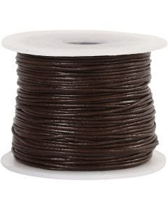 Lederband, Stärke: 1 mm, Braun, 50 m/ 1 Rolle