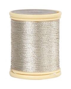 DMC Metallfaden, Stärke: 0,36 mm, Silber, 40 m/ 1 Rolle