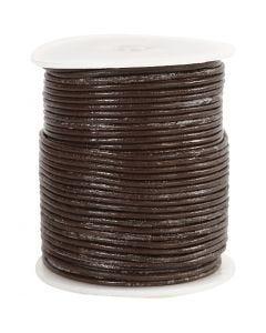 Lederband, Stärke: 2 mm, Braun, 50 m/ 1 Rolle