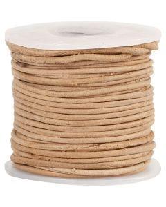 Lederband, Stärke: 1 mm, Natur, 10 m/ 1 Rolle