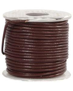 Lederband, Stärke: 1 mm, Braun, 10 m/ 1 Rolle