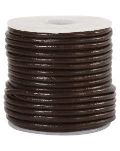 Lederband, Stärke: 2 mm, Braun, 10 m/ 1 Rolle