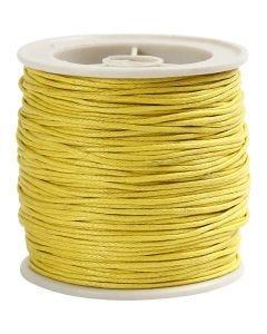 Baumwollband, Stärke: 1 mm, Gelb, 40 m/ 1 Rolle