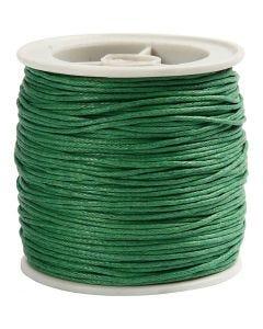 Baumwollband, Stärke: 1 mm, Grün, 40 m/ 1 Rolle