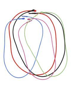 Elastische Halskette mit Verschluss, L: 46 cm, Stärke: 1,65 mm, Sortierte Farben, 5 sort./ 1 Pck.