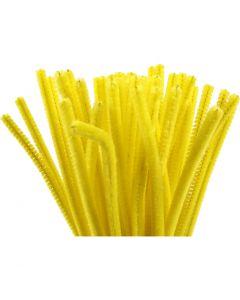 Pfeifenreiniger, L: 30 cm, Stärke: 6 mm, Gelb, 50 Stck./ 1 Pck.