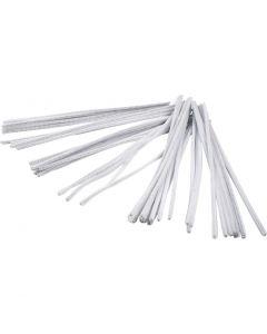 Pfeifenreiniger, L: 30 cm, Stärke: 6 mm, Weiß, 50 Stck./ 1 Pck.