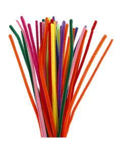 Pfeifenreiniger, L: 30 cm, Stärke: 6 mm, Sortierte Farben, 50 sort./ 1 Pck.