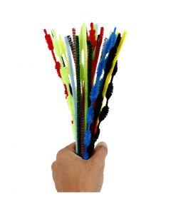 Pfeifenreiniger, L: 30 cm, Stärke: 5-12 mm, Sortierte Farben, 30 Stck./ 1 Pck.