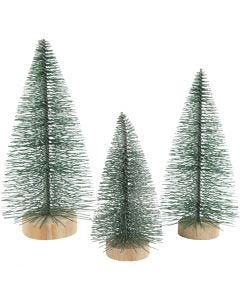 Weihnachtsbäume, H: 10+13+14 cm, 3 Stck./ 1 Pck.