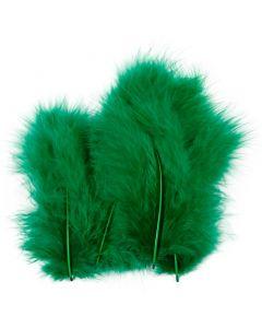 Federn, Größe 5-12 cm, Grün, 15 Stck./ 1 Pck.