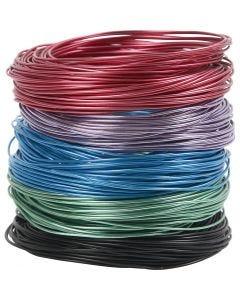 Aluminiumdraht, Stärke: 1,5 mm, Sortierte Farben, 5x20 m/ 1 Pck.