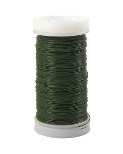 Blumendraht, Stärke: 0,31 mm, 100 g, Grün, 160 m/ 1 Rolle