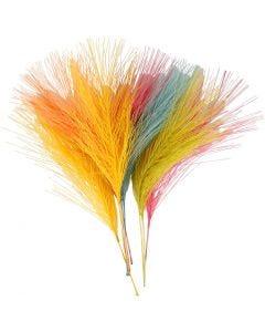 Künstliche Federn, L: 15 cm, B: 8 cm, Sortierte Farben, 10 Stck./ 1 Pck.