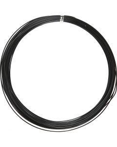 Aluminiumdraht, rund, Stärke: 1 mm, Schwarz, 16 m/ 1 Rolle