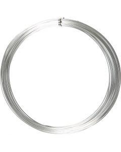 Aluminiumdraht, rund, Stärke: 1 mm, Silber, 16 m/ 1 Rolle