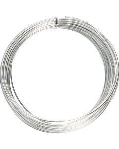 Aluminiumdraht, rund, Stärke: 2 mm, Silber, 10 m/ 1 Rolle