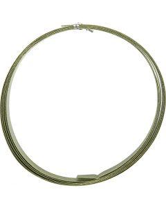 Aluminiumdraht, flach, B: 15 mm, Stärke: 0,5 mm, Grün, 2 m/ 1 Rolle