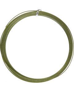 Aluminiumdraht, flach, B: 3,5 mm, Stärke: 0,5 mm, Grün, 4,5 m/ 1 Rolle