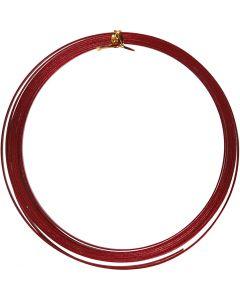 Aluminiumdraht, flach, B: 3,5 mm, Stärke: 0,5 mm, Rot, 4,5 m/ 1 Rolle