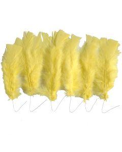 Federn, L: 11-17 cm, Gelb, 18 Bündl./ 1 Pck.