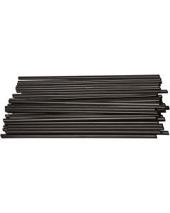 Bastelhalme, L: 12,5 cm, D: 3 mm, Schwarz, 800 Stck./ 1 Pck.