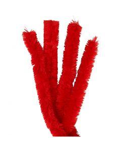 Pfeifenreiniger, L: 40 cm, Stärke: 30 mm, Rot, 4 Stck./ 1 Pck.