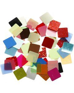 Pailletten-Mosaik, Größe 10x10 mm, Sortierte Farben, 250 g/ 1 Pck.
