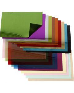 Sequin Folienblätter, 15,8x11 cm, Stärke: 0,25 mm, 20 Bl. sort./ 1 Pck.