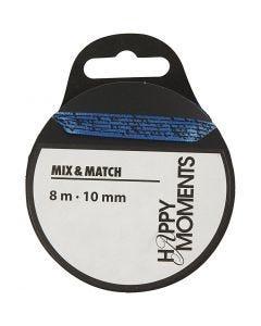 Satinband, B: 10 mm, Hellblau, 8 m/ 1 Rolle