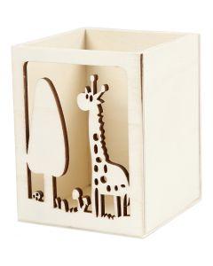 Behälter für Teelicht/Stifte, H: 10 cm, L: 8 cm, 1 Stck.