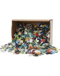 Mosaiksteine, Größe 8-20 mm, Sortierte Farben, 2 kg/ 1 Pck.