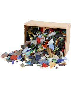 Mosaiksteine, Größe 15-60 mm, Sortierte Farben, 2 kg/ 1 Pck.