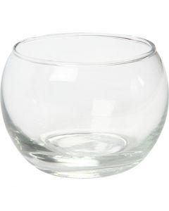 Kerzenglas, H: 7 cm, D: 8 cm, 12 Stck./ 1 Box